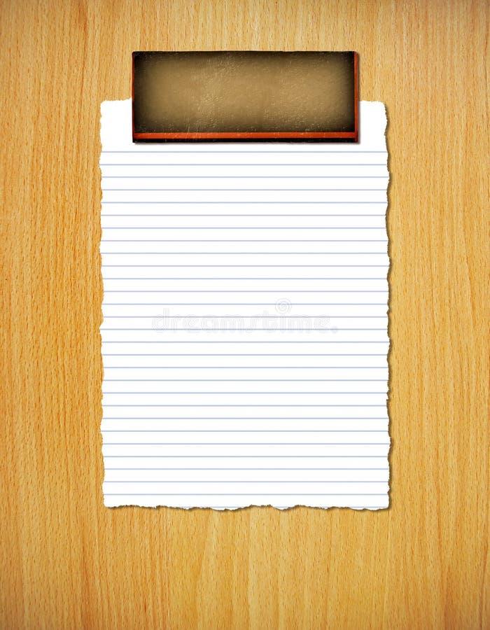 Gescheurd gevoerd document royalty-vrije stock afbeelding