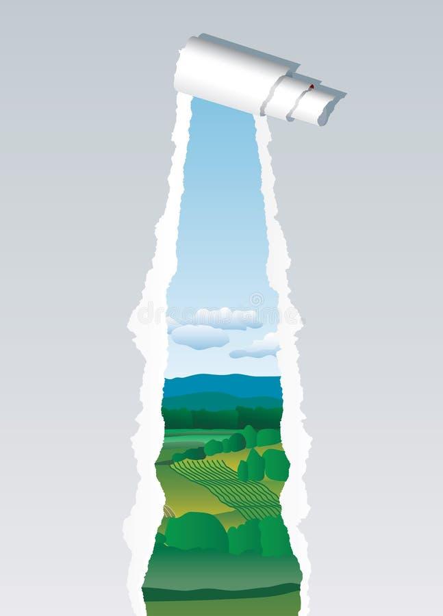 Gescheurd land stock illustratie
