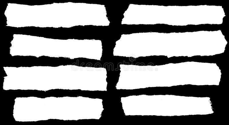 Gescheurd paperclipart. stock illustratie