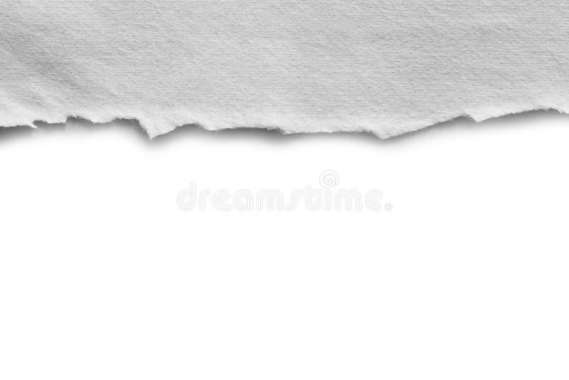 Gescheurd scheur document stock afbeelding