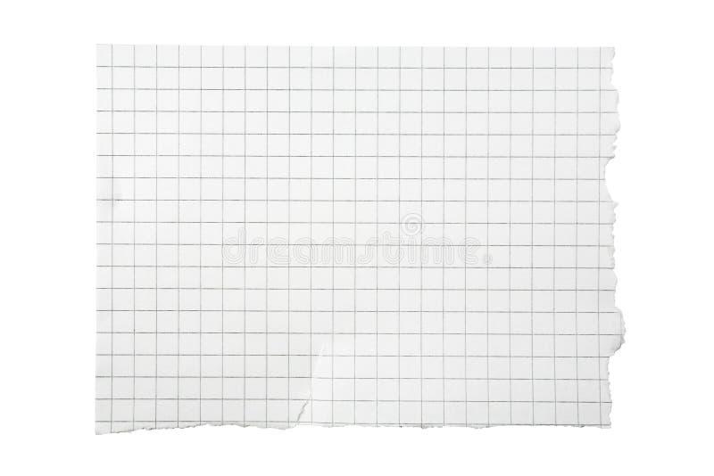 Gescheurd Stuk van Geregeld Document royalty-vrije stock foto