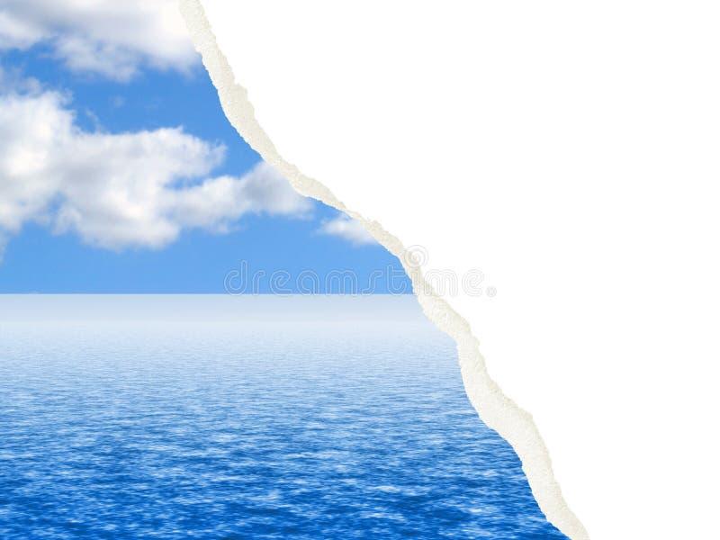 Gescheurd wolk en waterbeeld stock fotografie