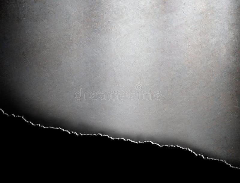 Gescheurde grunge metaalachtergrond stock afbeeldingen
