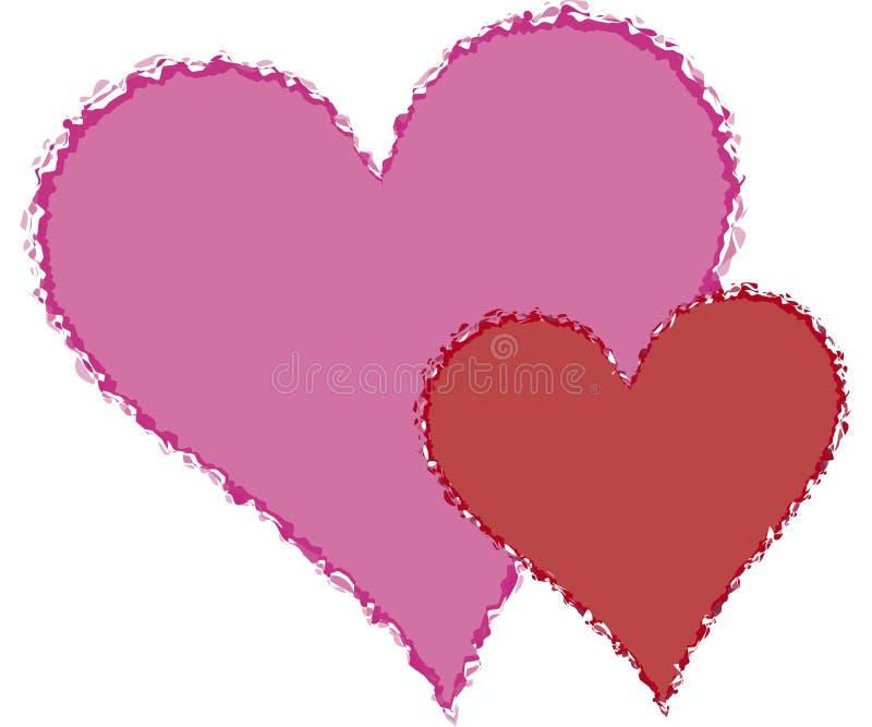 Gescheurde harten stock illustratie