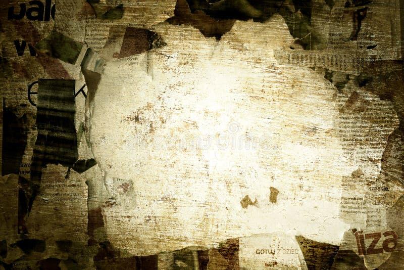 Gescheurde het document van Grunge grens achtergrond royalty-vrije stock fotografie