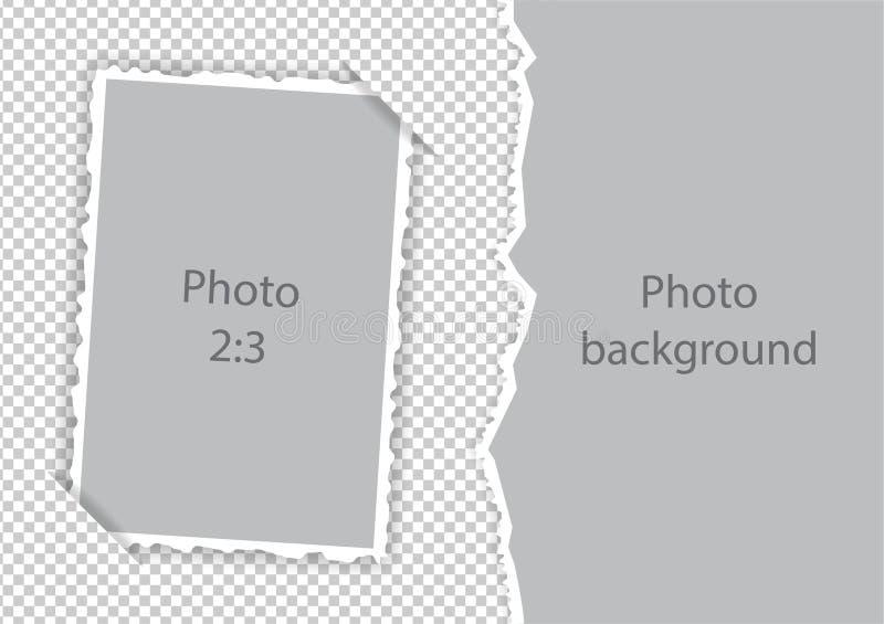 Gescheurde randendocument photoframe moderne malplaatjecollage royalty-vrije illustratie