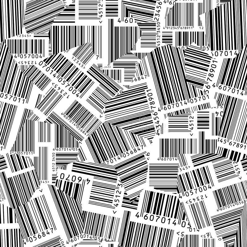 Gescheurde streepjescodes (naadloos vectorbehang) vector illustratie