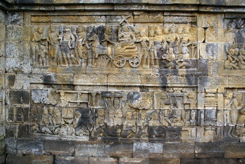 Geschichte auf der Wand stockfoto