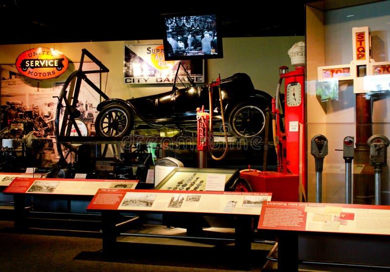 Geschichte der Automobile bei Smithsonian, Washington Gleichstrom. stockbilder