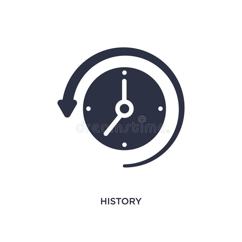 Geschichtsikone auf weißem Hintergrund Einfache Elementillustration vom Benutzerschnittstellenkonzept lizenzfreie abbildung
