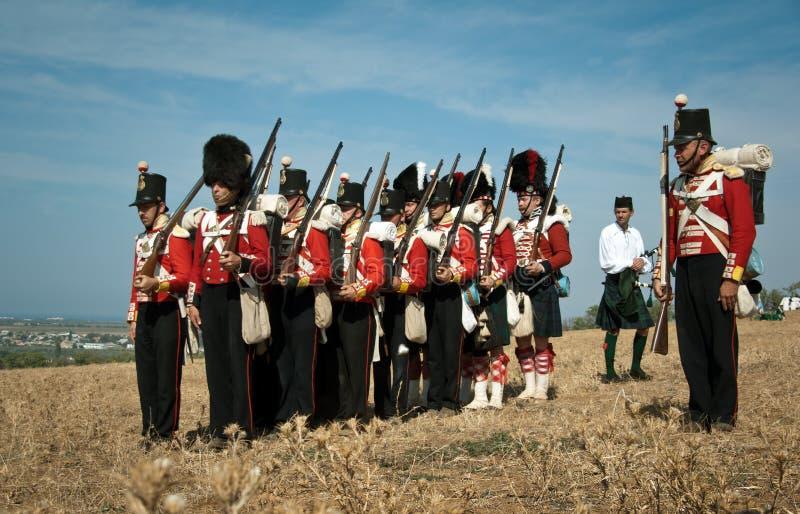 Geschiedenis eenvormig van Brits leger stock afbeeldingen