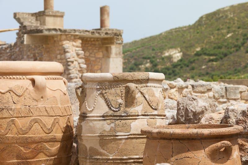 Geschiedenis van Knossos stock afbeeldingen