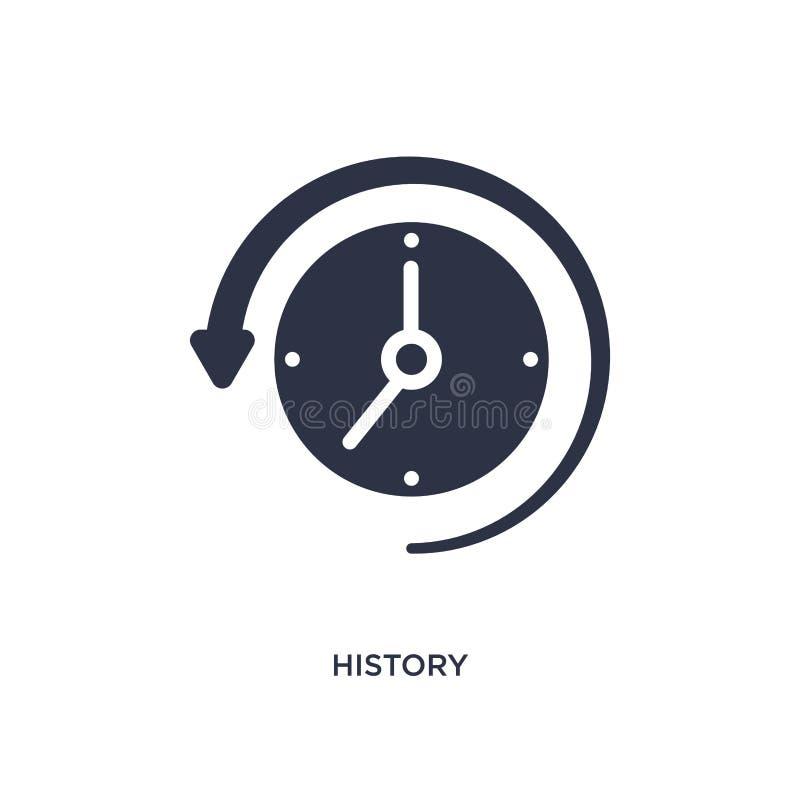geschiedenispictogram op witte achtergrond Eenvoudige elementenillustratie van gebruikersinterfaceconcept royalty-vrije illustratie
