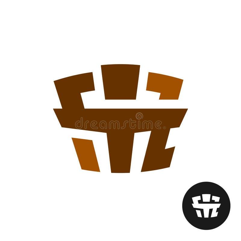 Geschikt de tekstembleem van de woordsport Symbool van atleet vector illustratie