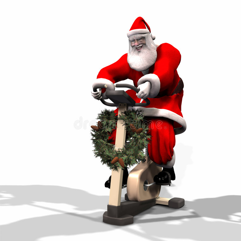 Geschiktheid 2 van de kerstman royalty-vrije illustratie