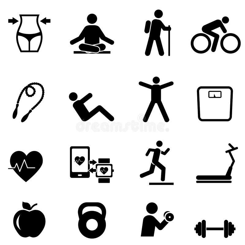 Geschiktheid, dieet en gezonde levensstijl stock illustratie