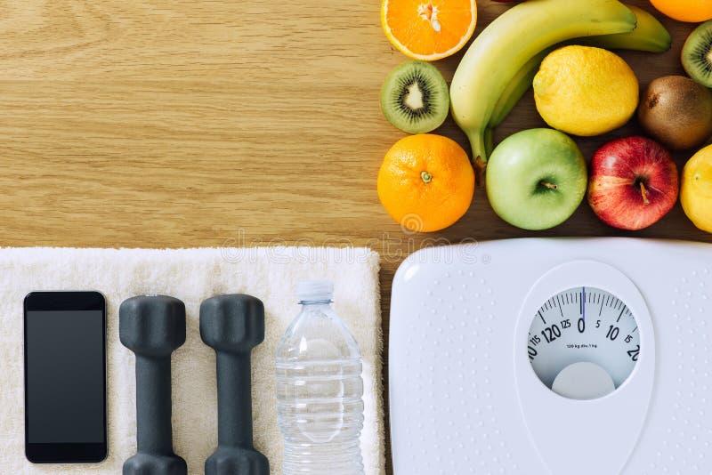 Geschiktheid en Gewichtsverlies stock afbeelding
