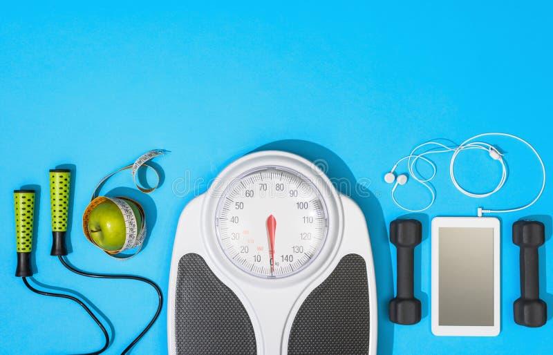 Geschiktheid, gezond levensstijl en gewichtsverlies stock afbeelding