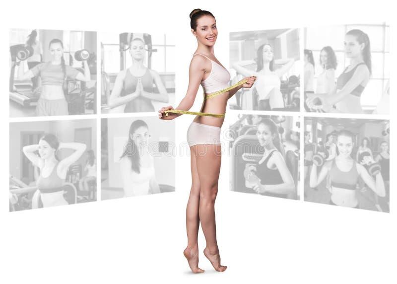 Geschiktheidsconcept perfect lichaam stock afbeeldingen