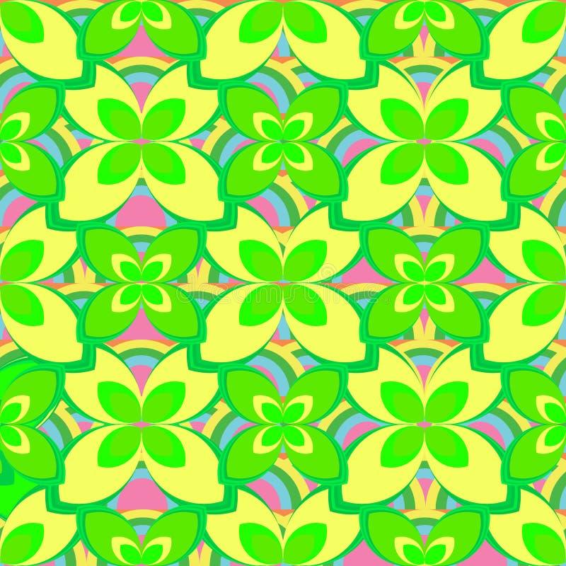 Geschilderd Abstract Bloem Naadloos Patroon Kleurrijke bloemenachtergrond met eenvoudige die hand om ornamenten in chaotisch word stock illustratie