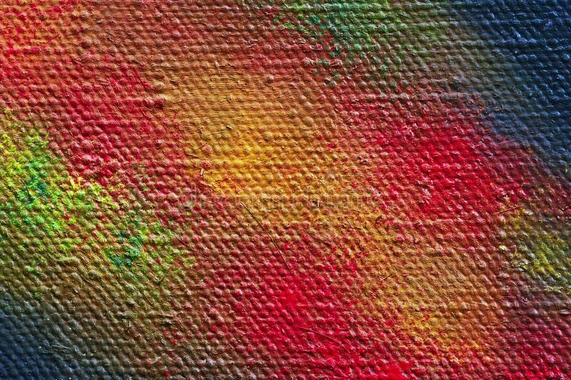 Geschilderd canvas - close-up royalty-vrije stock afbeeldingen