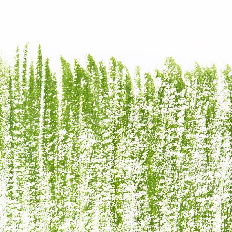 Geschilderd in gouache groen gras op een witte achtergrond royalty-vrije stock afbeeldingen