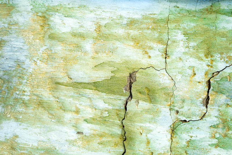 Geschilderd groen wal, beschadigde oppervlakte royalty-vrije stock foto