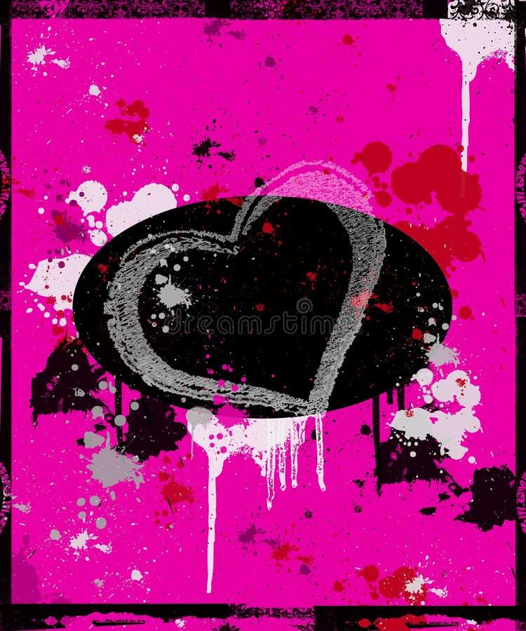 Geschilderd hart stock illustratie
