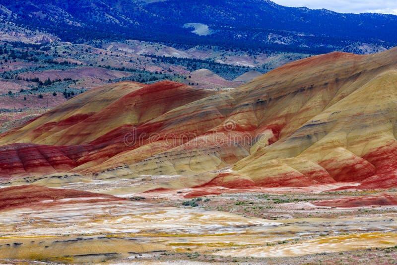 Geschilderd Heuvels Nationaal Monument stock afbeelding