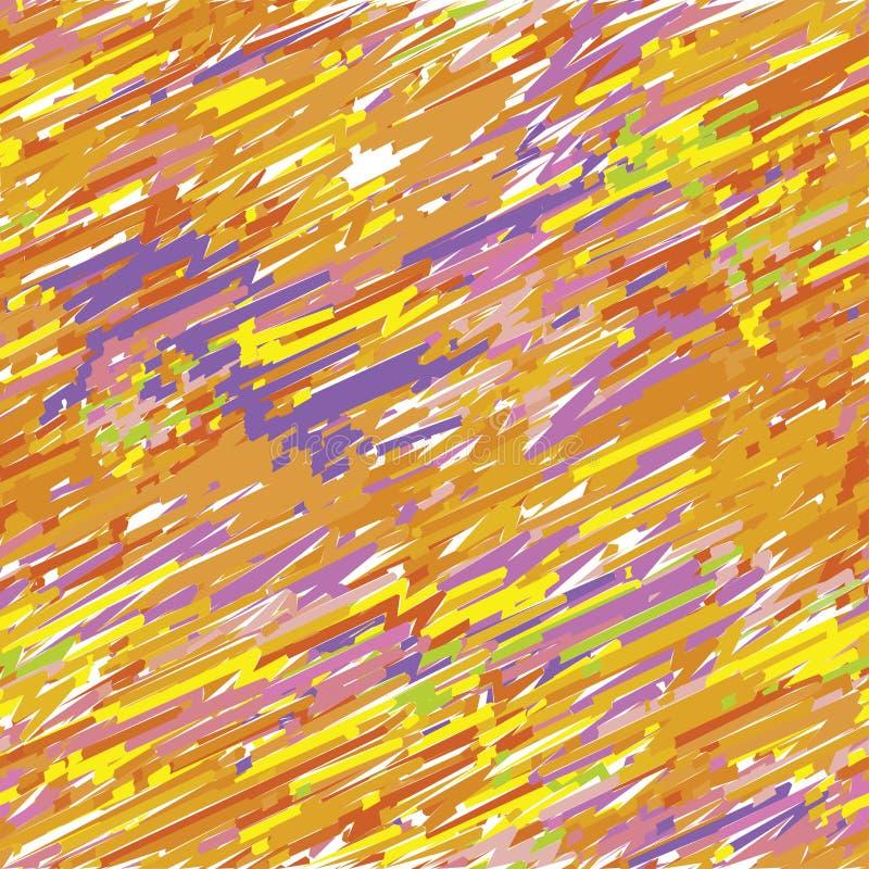 Geschilderd naadloos patroon in sinaasappel en viooltje vector illustratie