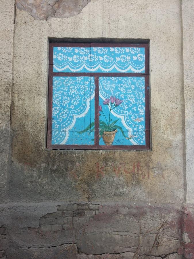 Geschilderd venster royalty-vrije stock afbeeldingen