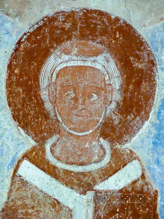 Geschilderde aartsbisschop in Finja-kerk, Zweden royalty-vrije stock foto