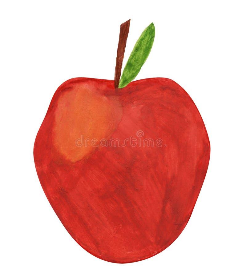 Geschilderde appel stock illustratie