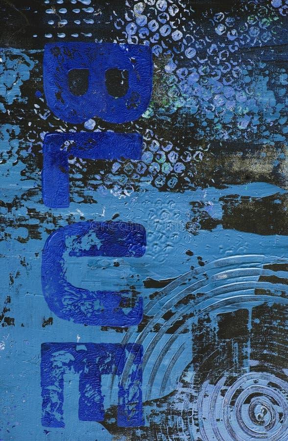Geschilderde blauwe achtergrond vector illustratie