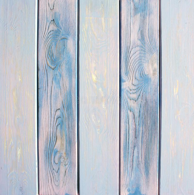 Geschilderde blauwe gekleurde houten achtergrond royalty-vrije stock foto
