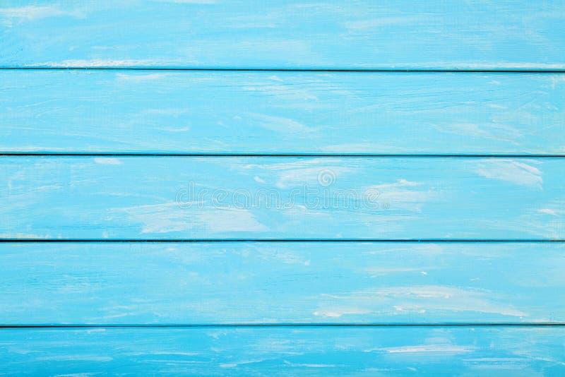 Geschilderde blauwe gekleurde houten achtergrond, Pastelkleur houten achtergrond voor ontwerp royalty-vrije stock afbeelding