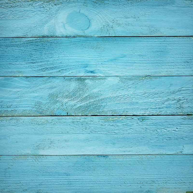 Geschilderde blauwe houten plankentextuur stock afbeeldingen