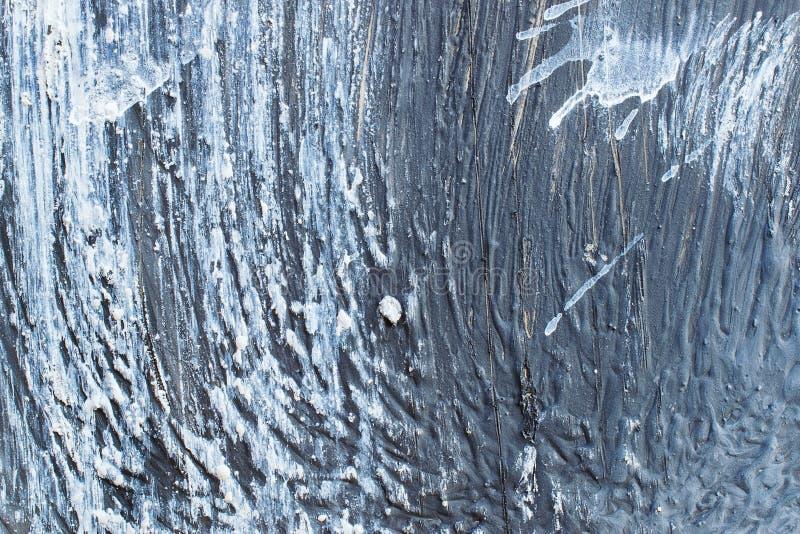 Geschilderde blauwe metaalachtergrond r stock foto's