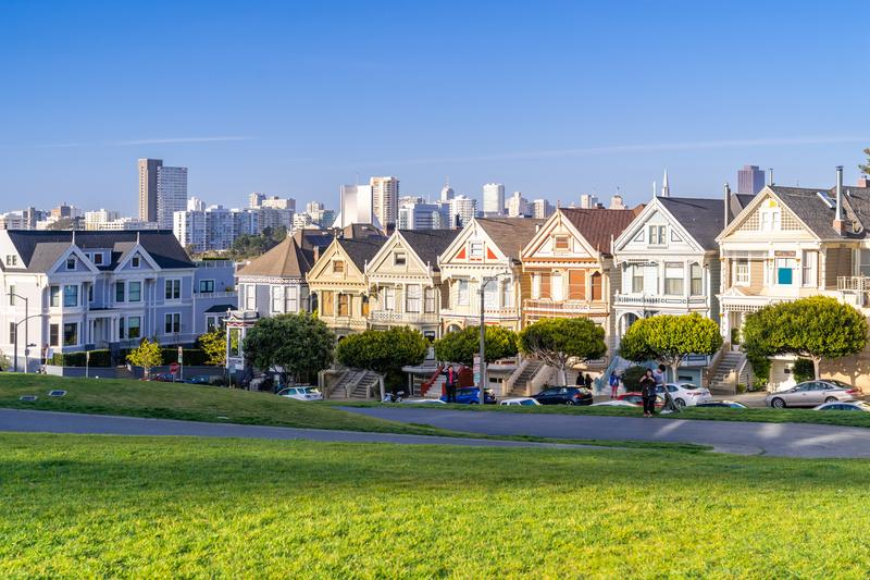 Geschilderde Dames San Francisco stock afbeeldingen