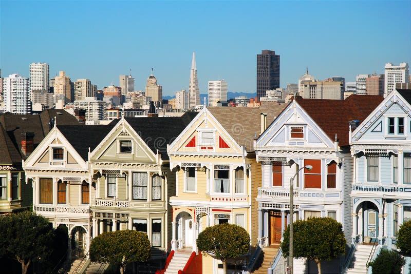 Geschilderde Dames, San Francisco stock foto's
