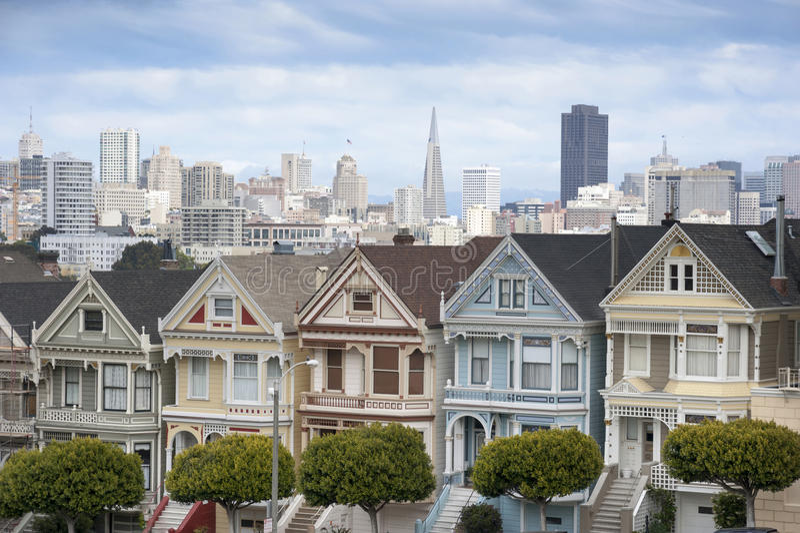 Geschilderde Dames in San Francisco stock fotografie