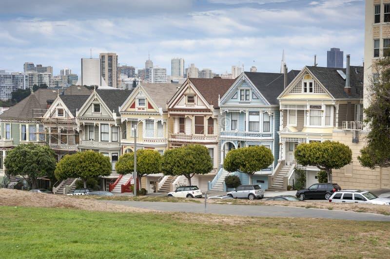 Geschilderde Dames in San Francisco stock foto