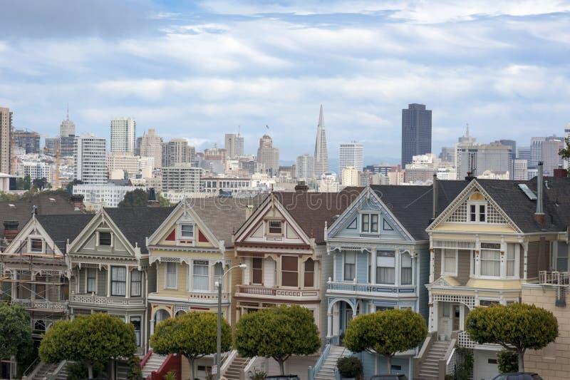 Geschilderde Dames in San Francisco royalty-vrije stock fotografie