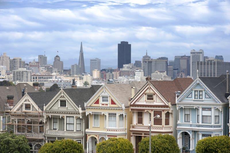 Geschilderde Dames in San Francisco stock foto's