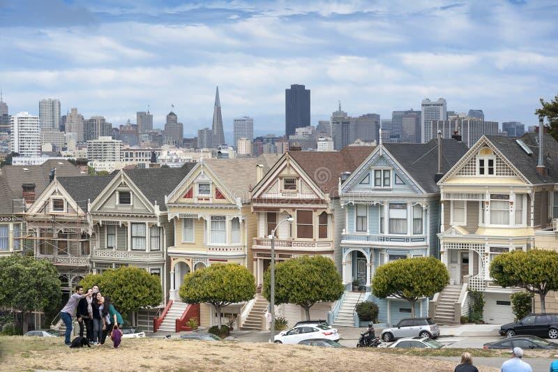 Geschilderde Dames in San Francisco stock afbeeldingen