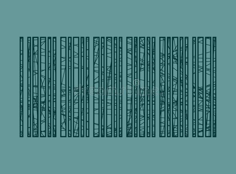 Geschilderde de slagen van het streepjescodepotlood vector illustratie