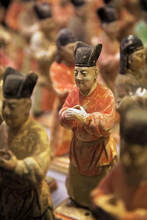 Geschilderde Eerwacht van Shaanxi-Geschiedenismuseum, Xian, China royalty-vrije stock afbeelding