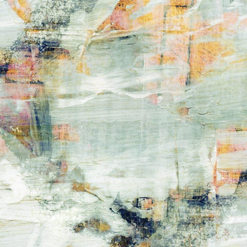 Geschilderde grunge collageachtergrond stock illustratie