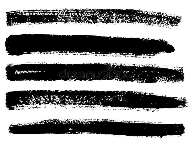 Geschilderde grunge geplaatste strepen royalty-vrije illustratie