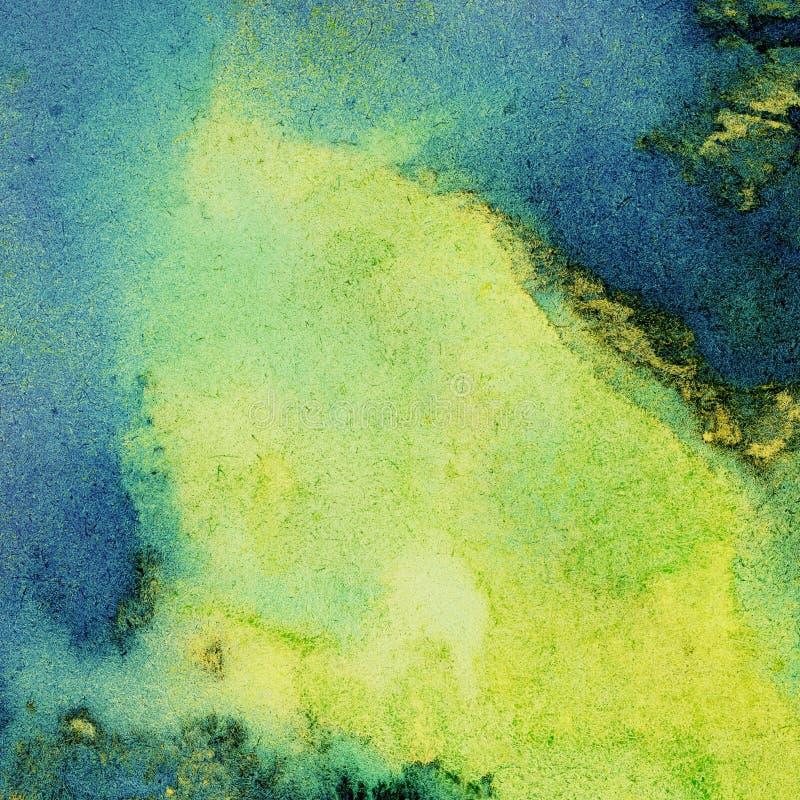Geschilderde heldere waterverfachtergrond stock illustratie